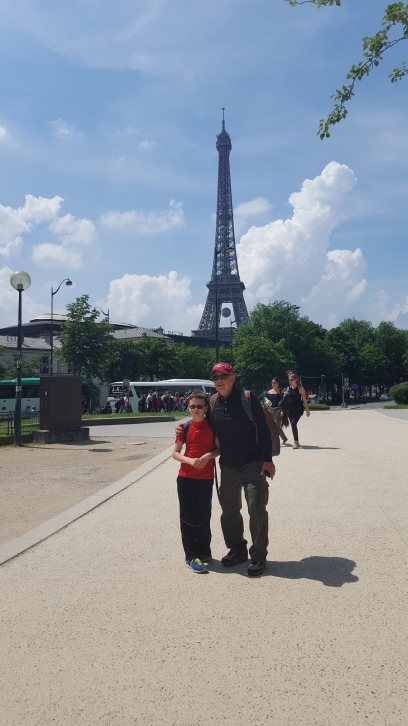 Paris with Papi (first visit for both of them)
