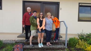Our home with Ernie's parents