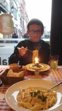 Will discovered his favorite dish Pasta Carbonara in France.