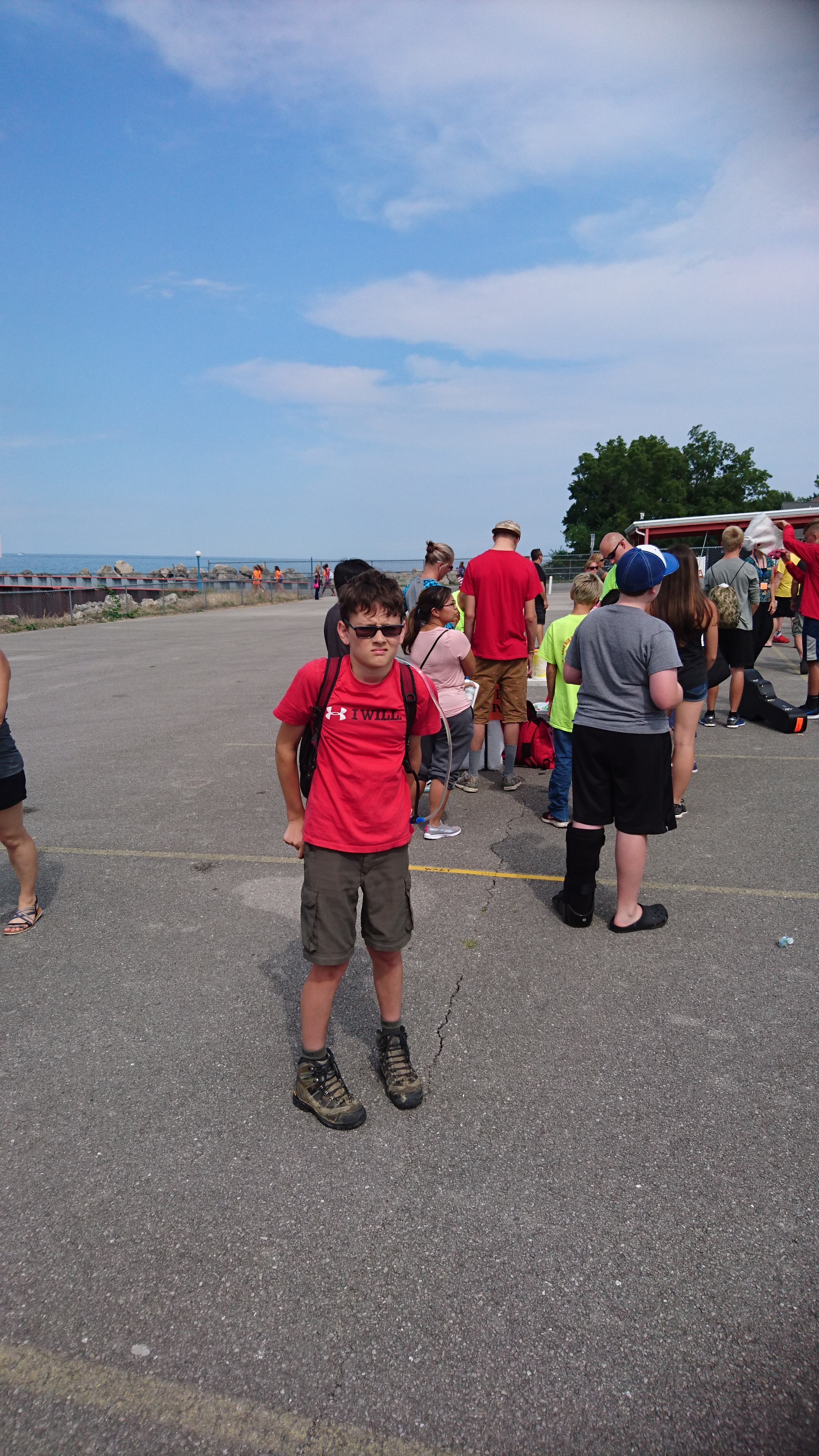 Will getting ready to board the ferry to Kelly's Island.